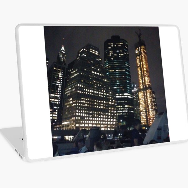 #Port, #crane, #ship, #industry, #sea, #cargo, #harbor, #dock, #shipping, #industrial, #night, #container, #water, #transportation, #transport, #cranes, #boat, #sky, #harbour, #nightlight, #reflection Laptop Skin