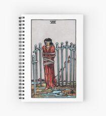 Eight of Swords Tarot Spiral Notebook