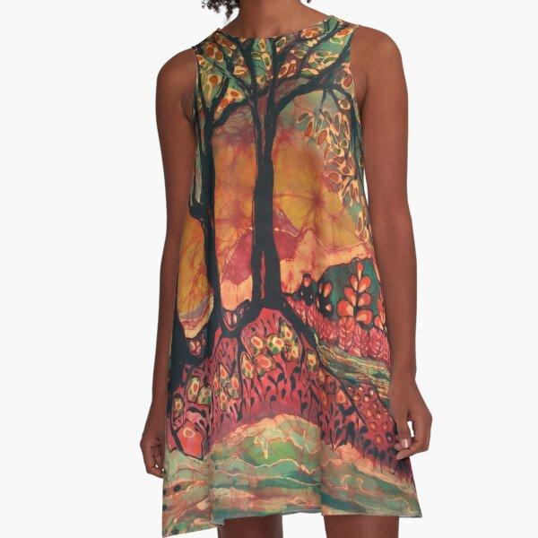 River Sunrise A-Line Dress