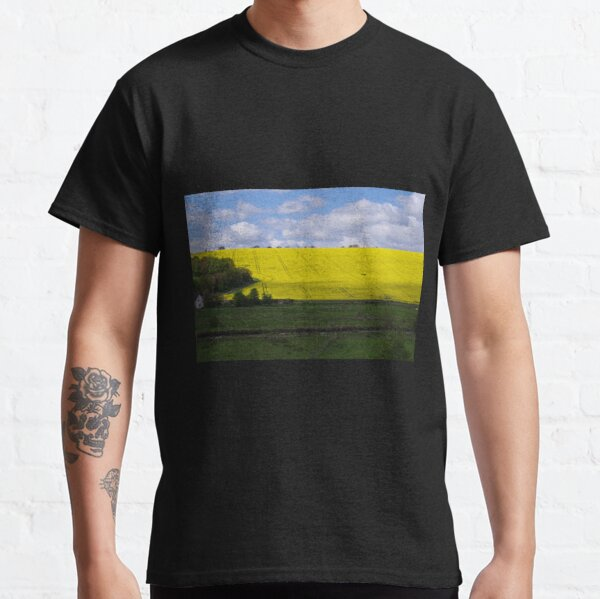 Rapeseed field in Wiltshire  Classic T-Shirt