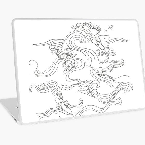 Ladies surfer Laptop Skin