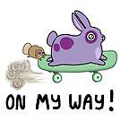 On my way! - Mood Bunnies by baretreemedia