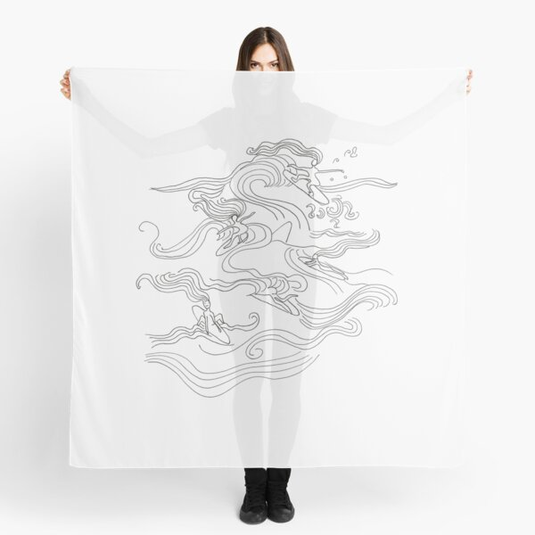 Ladies surfer Scarf
