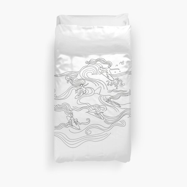 Ladies surfer Duvet Cover