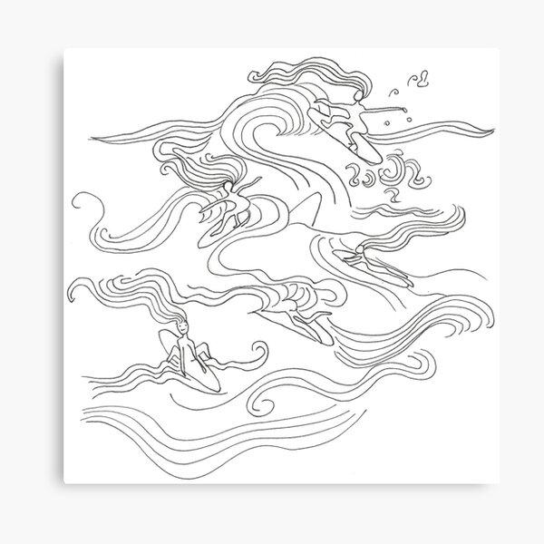 Ladies surfer Canvas Print