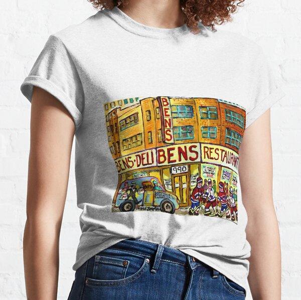 BEN'S DELICATESSEN VANISHED MONTREAL WINTER STREET HOCKEY SCENE Classic T-Shirt