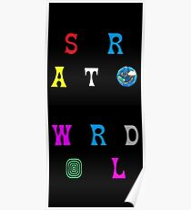Astroworld stacked and diagonal  Poster