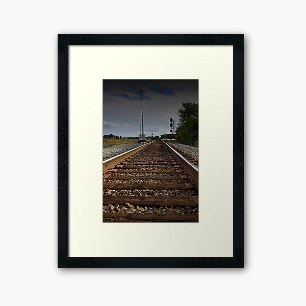 Along the tracks Framed Art Print