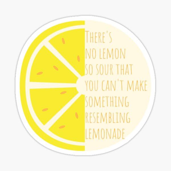 Sin limón tan amargo Pegatina