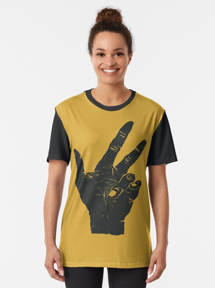 Alternate view of Shaking Hands From Miles Graphic T-Shirt