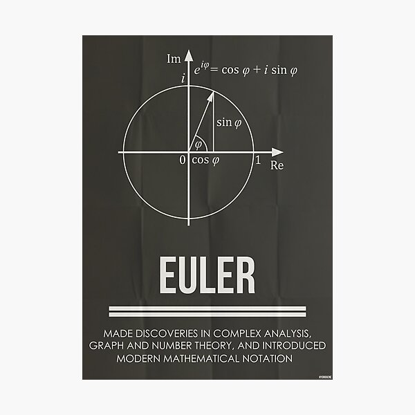 EULER - Mathematicians Collection Photographic Print