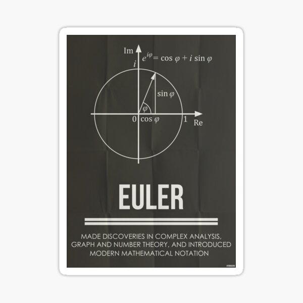 EULER - Mathematicians Collection Sticker