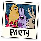 Party Buns - Mood Bunnies by baretreemedia