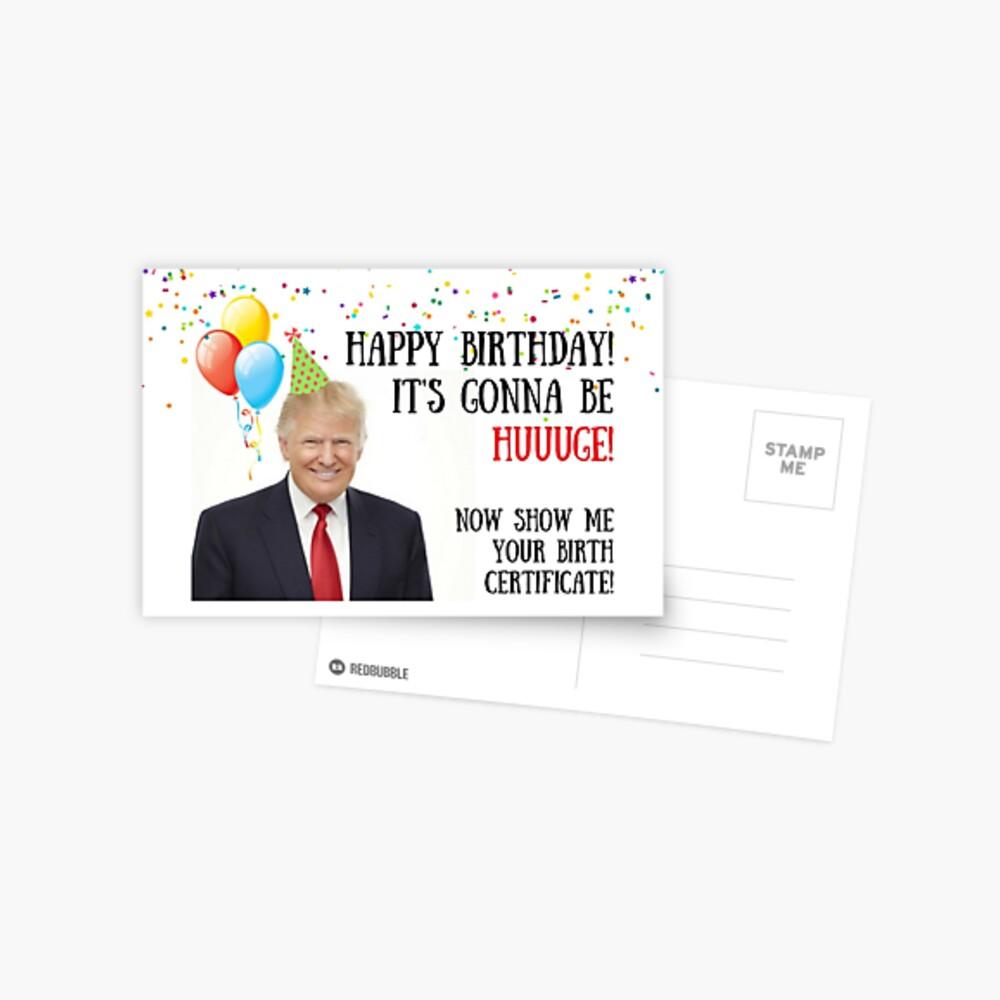Le meilleur de Donald Trump Card jamais énorme anniversaire Trump drôle CARTE D/'ANNIVERSAIRE