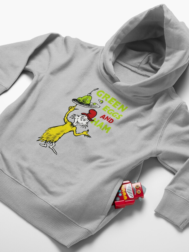 Alternate view of Green egg and ham Toddler Pullover Hoodie