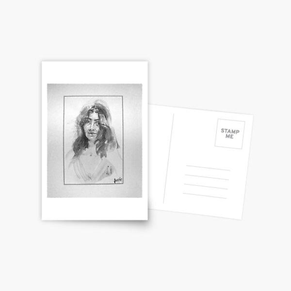 Judy Collins Look-a-Like Self Portrait   Postcard