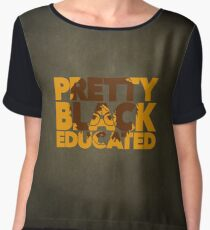 Pretty, Black and Educated African American Black College Woman Chiffon Top