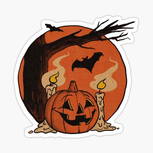 Vintage Pumpkin Scene Halloween 2018 Sticker