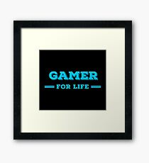 Lifer Gaming T Shirts. Cool Gifts Ideas for Gamers. Framed Print