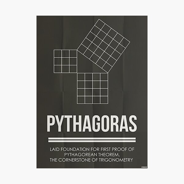 PYTHAGORAS - Mathematicians Collection Photographic Print