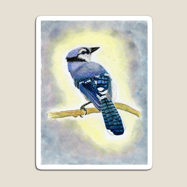 Bluejay Watercolor Painting Magnet