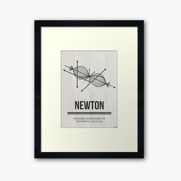 NEWTON - Mathematicians Collection Framed Art Print