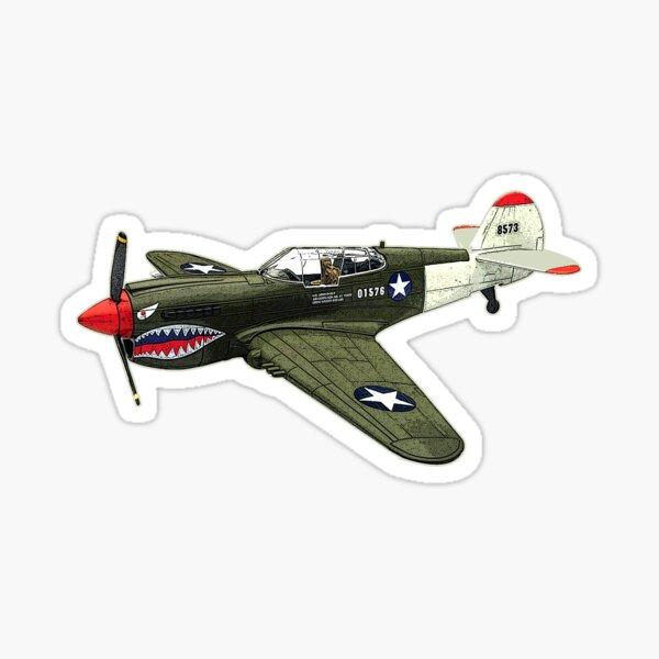 Vintage World War 2 Spitfire Fighter Jet Airplane Sticker