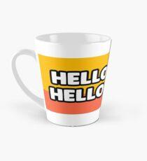 """""""Hello hello"""" and welcome to the Smashing Security mug Tall Mug"""