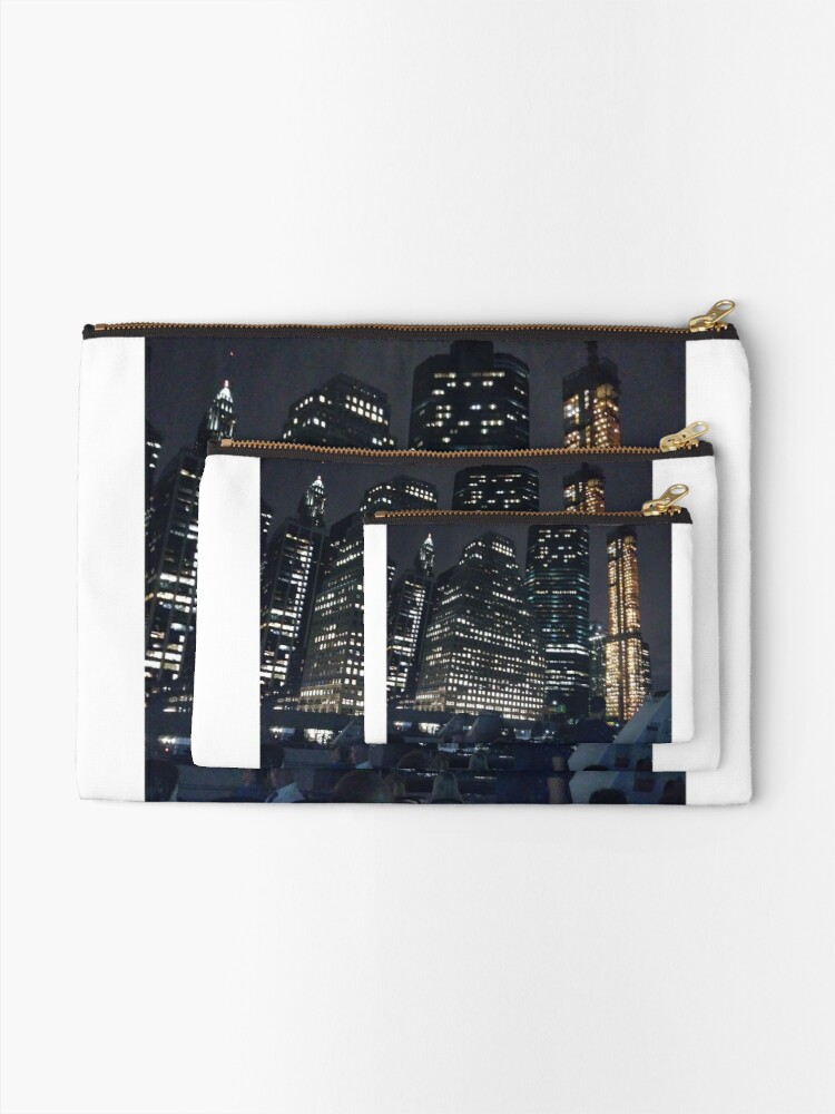 Alternate view of #skyscraper #city #architecture #business #cityscape #tallest #office #finance #dusk #tower #modern #sky #outdoors #horizontal # #colorimage #copyspace #builtstructure #downtowndistrict #urbanskyline  Zipper Pouch