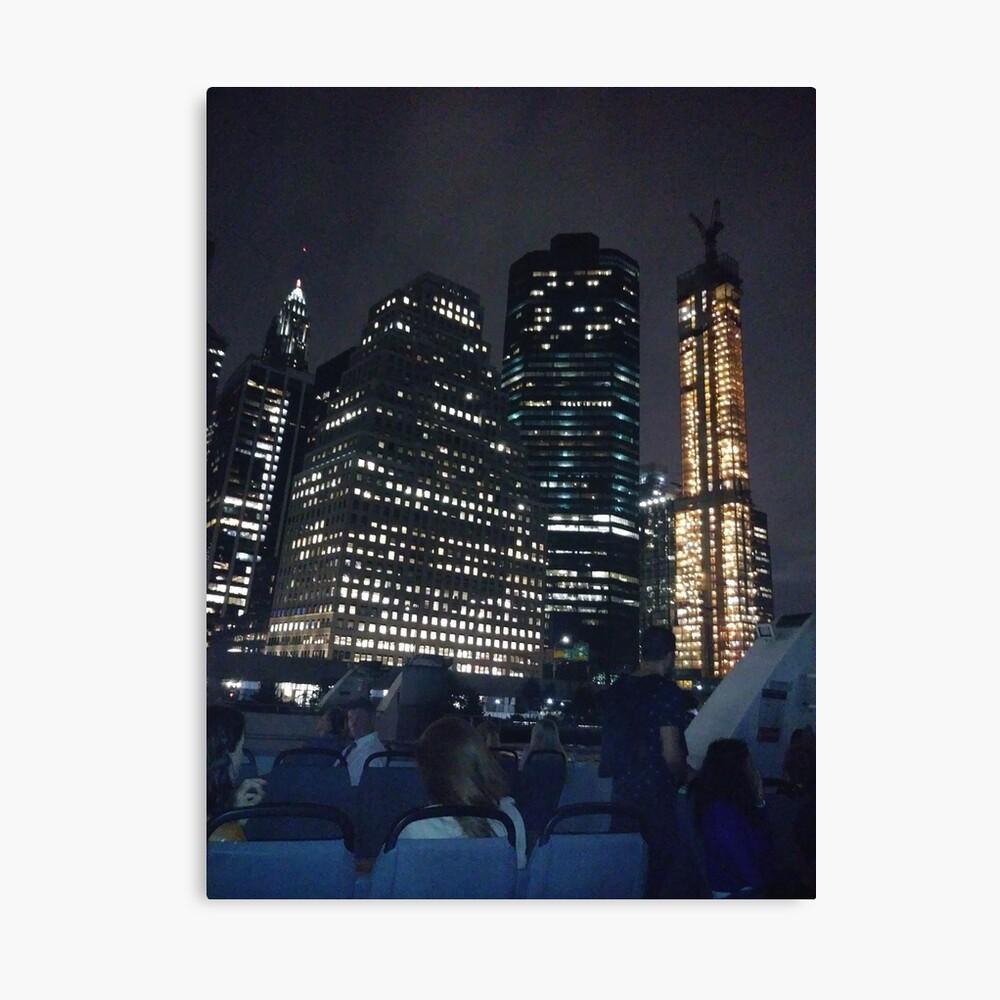 #skyscraper #city #architecture #business #cityscape #tallest #office #finance #dusk #tower #modern #sky #outdoors #horizontal # #colorimage #copyspace #builtstructure #downtowndistrict #urbanskyline  Canvas Print