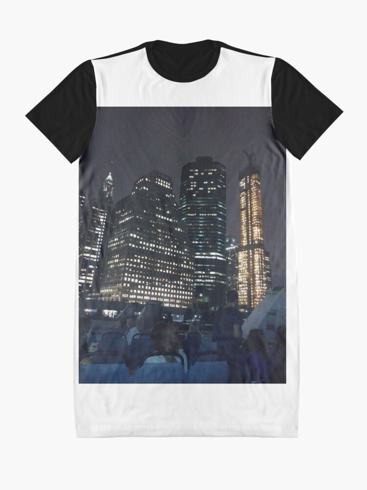 Alternate view of #skyscraper #city #architecture #business #cityscape #tallest #office #finance #dusk #tower #modern #sky #outdoors #horizontal # #colorimage #copyspace #builtstructure #downtowndistrict #urbanskyline  Graphic T-Shirt Dress