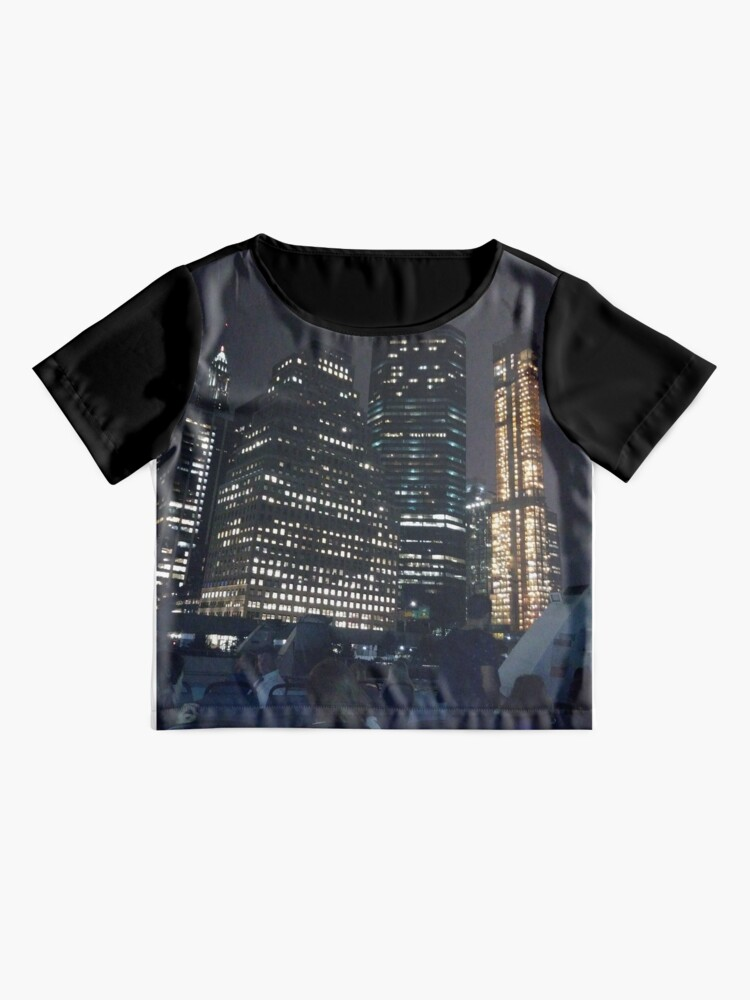 Alternate view of #skyscraper #city #architecture #business #cityscape #tallest #office #finance #dusk #tower #modern #sky #outdoors #horizontal # #colorimage #copyspace #builtstructure #downtowndistrict #urbanskyline  Chiffon Top