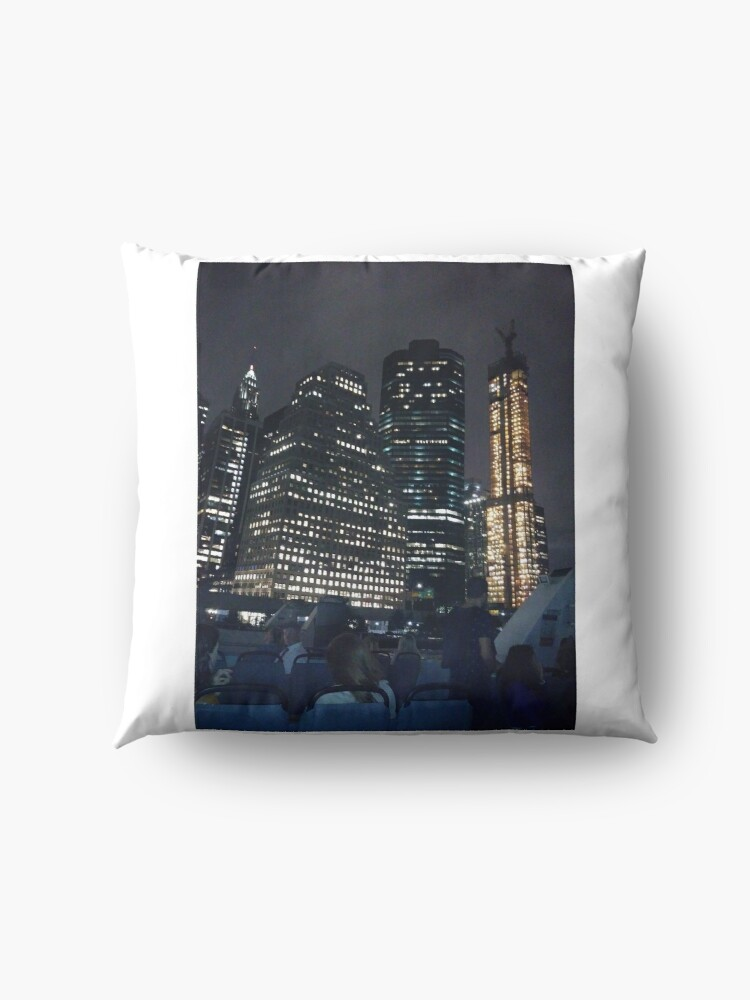Alternate view of #skyscraper #city #architecture #business #cityscape #tallest #office #finance #dusk #tower #modern #sky #outdoors #horizontal # #colorimage #copyspace #builtstructure #downtowndistrict #urbanskyline  Floor Pillow