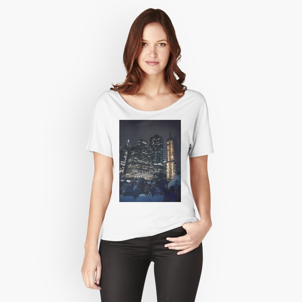#skyscraper #city #architecture #business #cityscape #tallest #office #finance #dusk #tower #modern #sky #outdoors #horizontal # #colorimage #copyspace #builtstructure #downtowndistrict #urbanskyline  Relaxed Fit T-Shirt