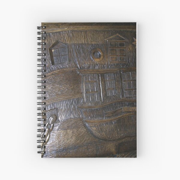 Wood panel in HMS Unicorn Spiral Notebook