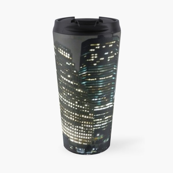 #skyscraper #city #architecture #business #cityscape #tallest #office #finance #dusk #tower #modern #sky #outdoors #horizontal # #colorimage #copyspace #builtstructure #downtowndistrict #urbanskyline Travel Mug