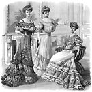 Trio of Edwardian Ladies in Ball Gowns 1 by VictorianTrends