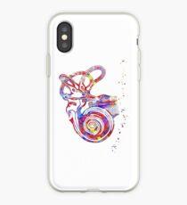 Ear anatomy, Inner ear, Cochlea Histology, Vestibular System Structure, Audiology iPhone Case