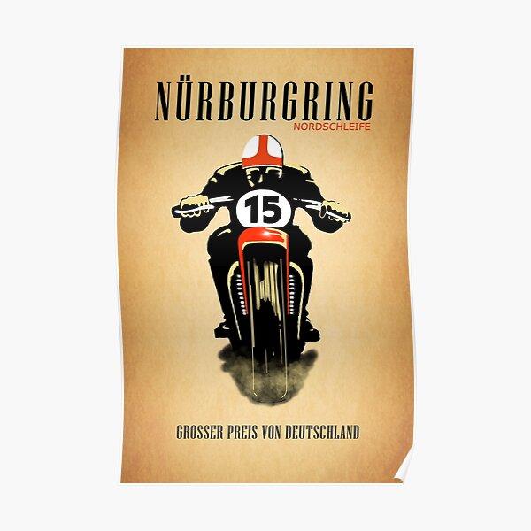 Weinlese Nürburgring Nordschleife Poster