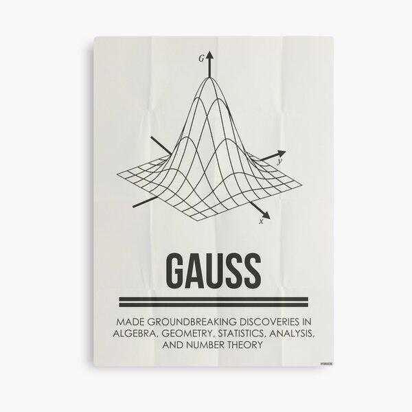 GAUSS - Mathematicians Collection Canvas Print