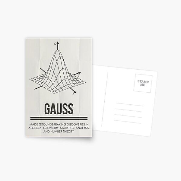 GAUSS - Mathematicians Collection Postcard