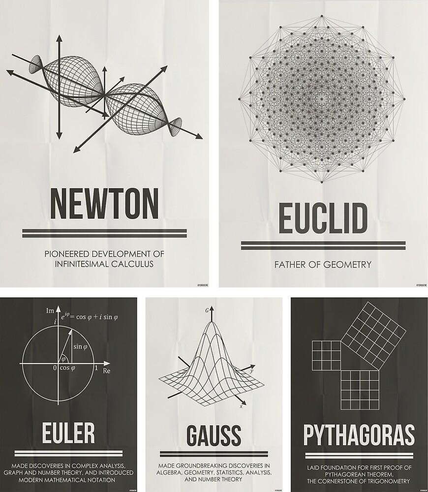 Mathematicians Mosiac by Hydrogene