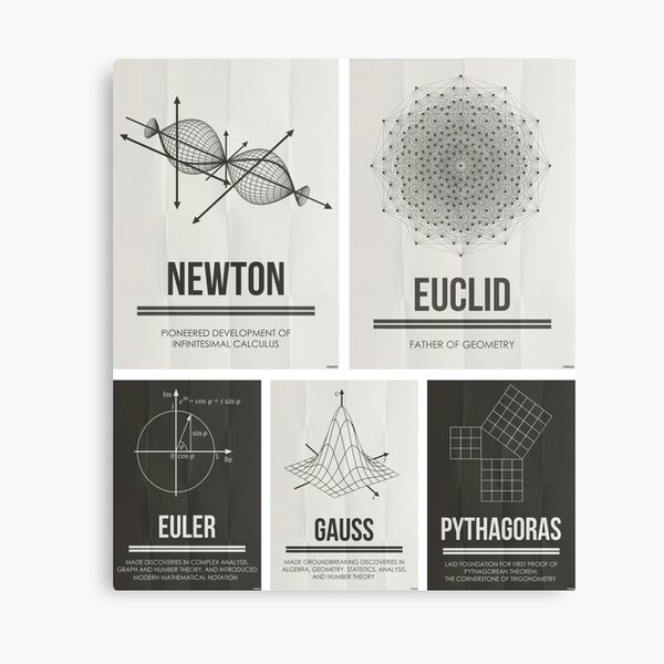 Mathematicians Mosiac Canvas Print