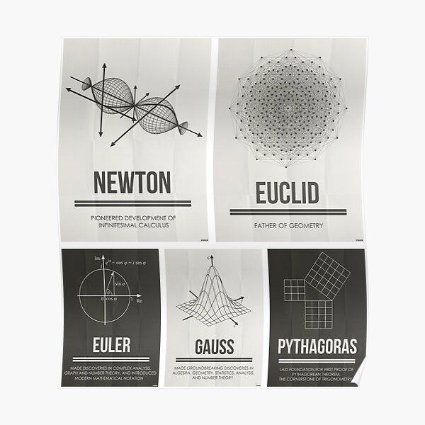 Mathematicians Mosiac Poster