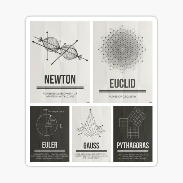 Mathematicians Mosiac Sticker