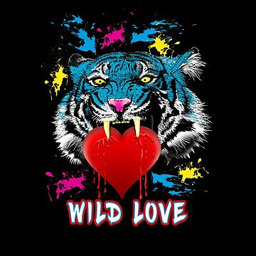 WILD LOVE (Tiger head) by Colette-vd-Wal