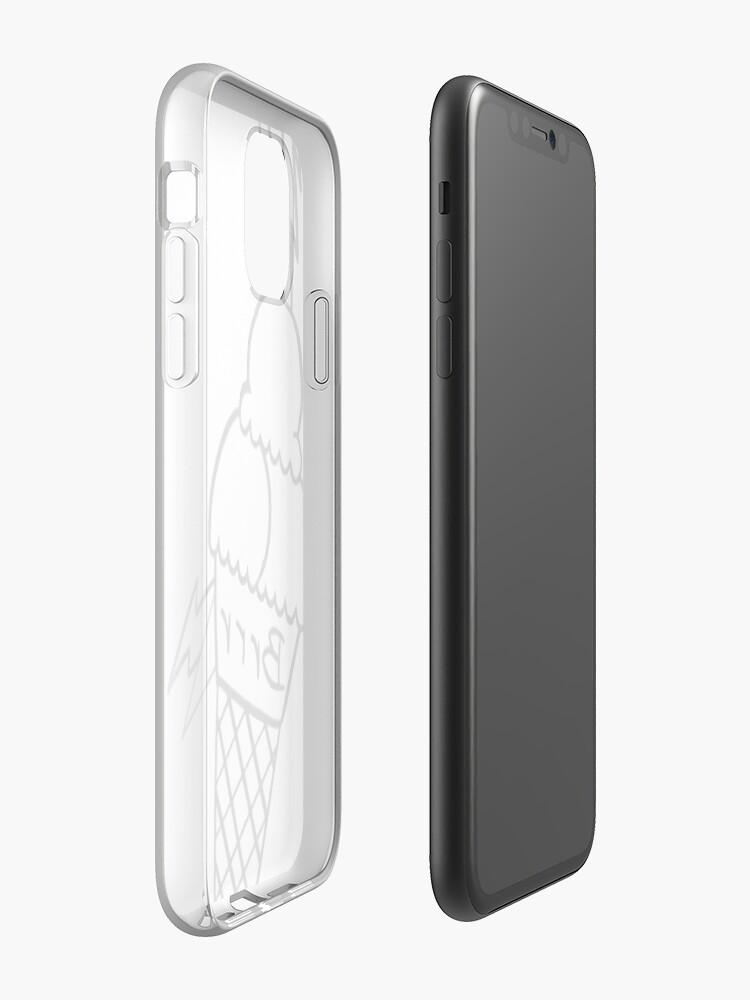 coque iphone x bois - Coque iPhone «crème glacée brr», par elchicodelab