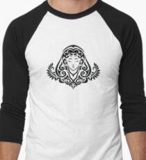Zodiac Sign Virgo Black Men's Baseball ¾ T-Shirt
