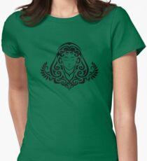 Zodiac Sign Virgo Black Womens Fitted T-Shirt