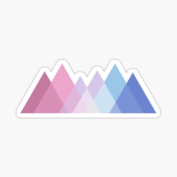 Bigender Mountains Logo Sticker